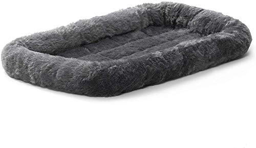 Fluffy's Luxurious Dog Bed | Bolster Dog Bed Fits Metal Dog Crates | Machine Wash & Dry, Black, Small, 500 g