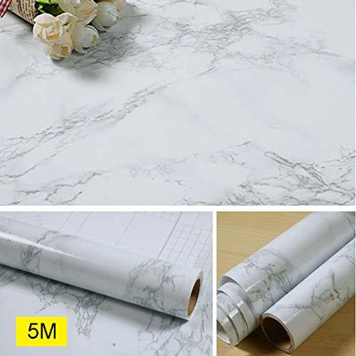Lanceasy Marmer papierrol keuken werkblad kast dik waterdicht 60 cm zelfklevend behang