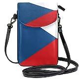 Tschechische Republik Flagge Crossbody Tasche Handy Geldbörse Geldbörse mit Kreditkartenfächern für Frauen