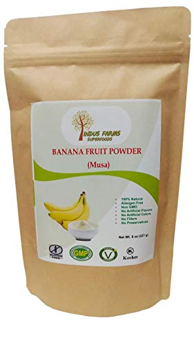 100% Natural Banana Fruit Powder, 8 oz, Eco-friendly Resealable pouch, No Artificial Flavors/Preservatives/Fillers, Halal, Kosher, Vegan-Friendly