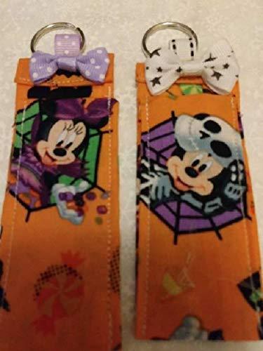 Disney Weekly update Halloween Mickey Genuine Minnie set keych Chapstick 2 holder of