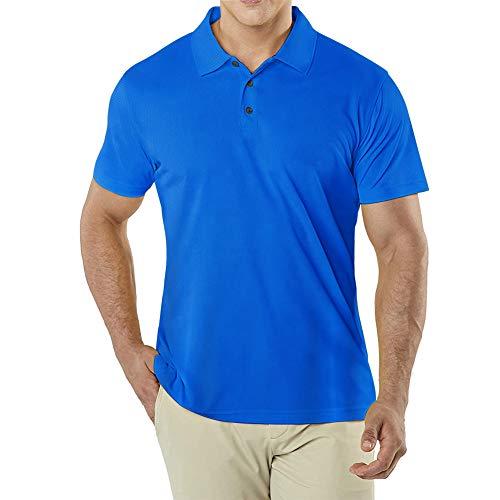 MeetHoo Poloshirts Herren, Polo T Shirt Kurzarm Sportshirt Männer Golf Shirt für Tennis Fitness