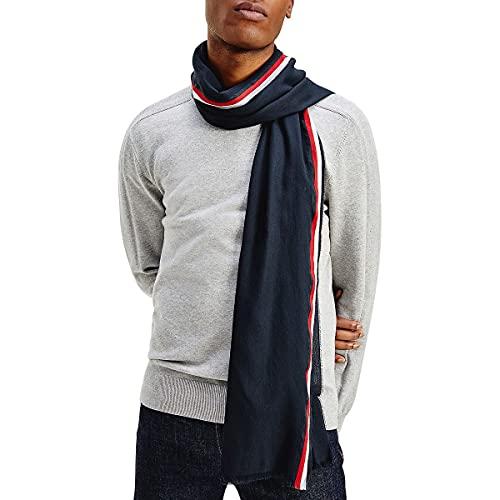 Tommy Hilfiger - Foulard con fascia sottile tricolore Blu marino taglia unica