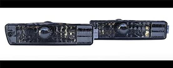 Clear Black Smoke Big Bumper Euro E-Code Turn Signal Lights For VW Golf Jetta MK2 2
