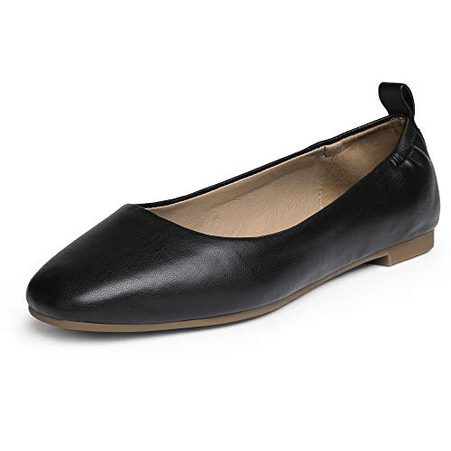 DREAM PAIRS Dfa211 Women's Flats Ballet Comfortable Dress Foldable Shoes Size 5, Black Pu