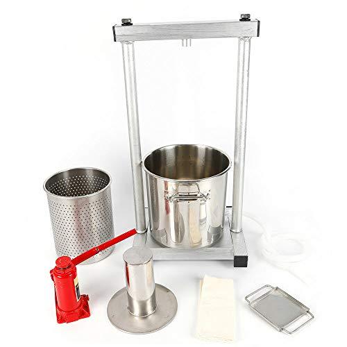 Prensa de fruta de acero inoxidable 12L prensa de vino prensa de manzana de fruta + conjunto de herramientas de cilindro hidráulico