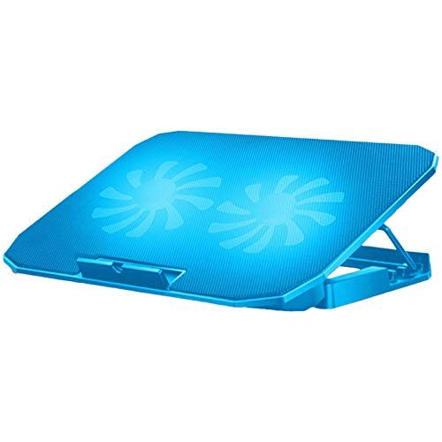 ESTK Laptop Cooling Pad, Portable Height Adjustable Laptop Water Cooling Fan Stand, Gaming Laptop Stand for Home and Office/Sky Blue Upgraded Version