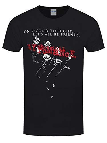 My Chemical Romance T-Shirt con Stampa Ufficiale Friends (Nero) M