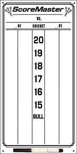 Scoremaster Dry Erase Dart Scoreboard for Cricket & 01 Games (Small)