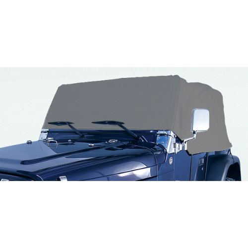 Rugged Ridge 13321.02 Deluxe Cab Cover; Gray, for 76-06 Jeep CJ/Wrangler YJ/TJ