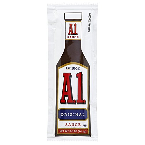 A1 Steak Sauce Single Serve (0.5oz Packets, Pack of 200)