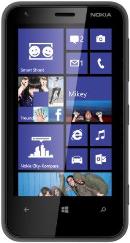 Nokia Lumia 620 Smartphone (9,7 cm (3,8 Zoll) Touchscreen, Snapdragon S4, Dual-Core, 1GHz, 512MB RAM, 5 Megapixel Kamera, Win 8, micro SIM) matt-schwarz