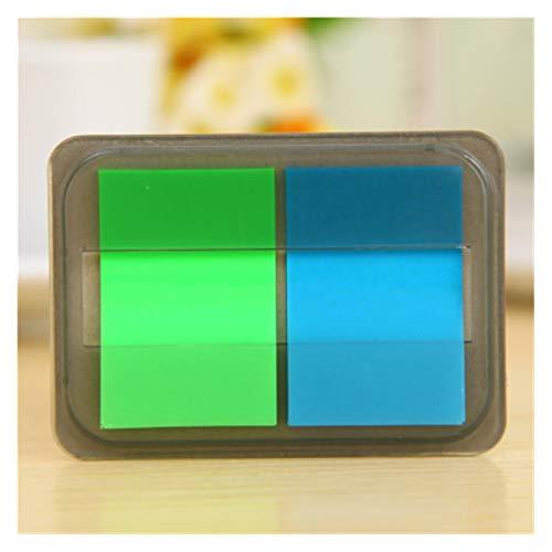ARTFFEL Luz 30 Hojas/Paquete Página de página Página Índice Pestañas Fluorescente Nota Adhesiva para marcadores de página Seguridad (Color : A)