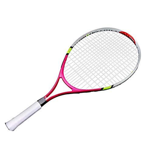TOPINCN - Raqueta De Tenis Superligera Para Niños Y Principiantes, 1 Bolsa De Transporte Incluida (Rojo Rosa)