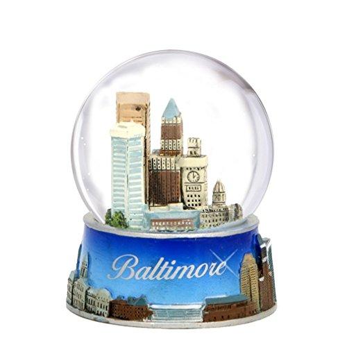 Baltimore Snow Globe from Maryland. Souvenir Snow Globe of Baltimore Skyline. 3.5