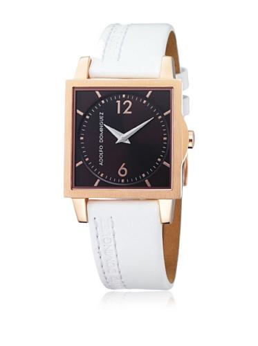 Adolfo Dominguez Watches 63027 - Reloj de Señora movimiento de cuarzo con correa de piel Blanco