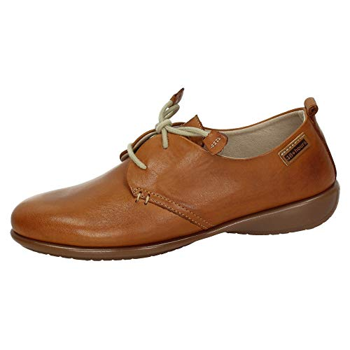 48 HORAS 10102/12 Blucher DE Piel Mujer Zapatos CORDÓN Brandy 36
