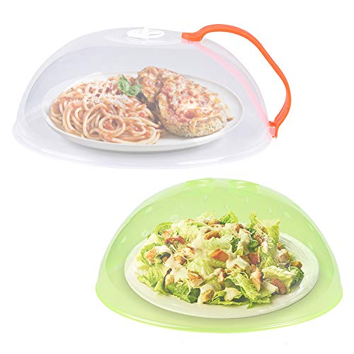 Microwave Plate Cover, Anti-Splatter Plate Lid with Steam Vents &...