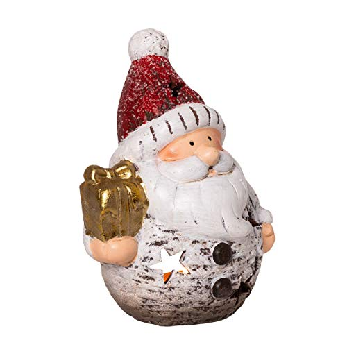 Portacandela in ceramica con Babbo Natale