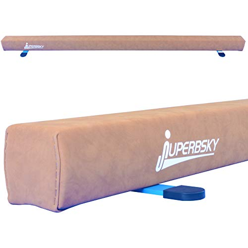 Juperbsky Off-Ground Gymnastic Suede Wood Balance Beam