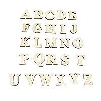 自己接着性の手紙の工芸品、自己接着性の接着剤耐久性のある天然木木製の手紙の工芸品、ホームハウスのオフィスのリビングルーム(A-Z (26 letters))