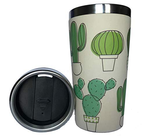 Termo de Bambu ♻ Vaso Termico Café para Llevar - Taza Ecologica...
