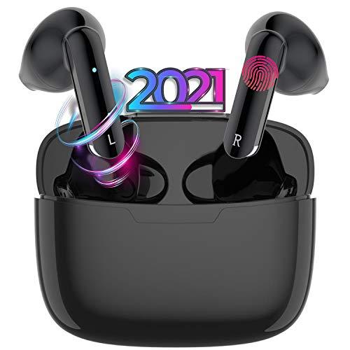Auriculares inalámbricos, Auriculares estéreo TWS Bluetooth 5.1 con micrófono a Prueba de Agua IPX6, Sonido Estéreo 3D, Auriculares internos, adecuados para Apple Airpods, iPhone Android