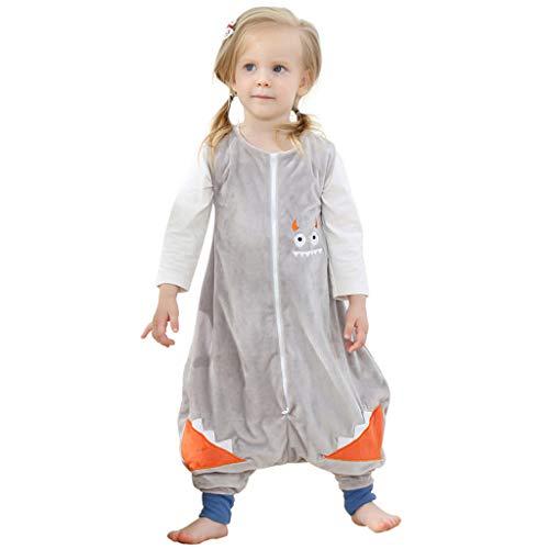 Fainosmny Toddler Kids Baby Boys Girls Cartoon Jumpsuit Sleepwear Split Leg Sleeping Bag Christmas Cardigan Sweatshirt Light Blue