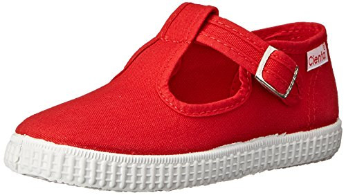 Cienta 51000 T-Strap Fashion Sneaker, Red, 22 EU/6 M US Toddler