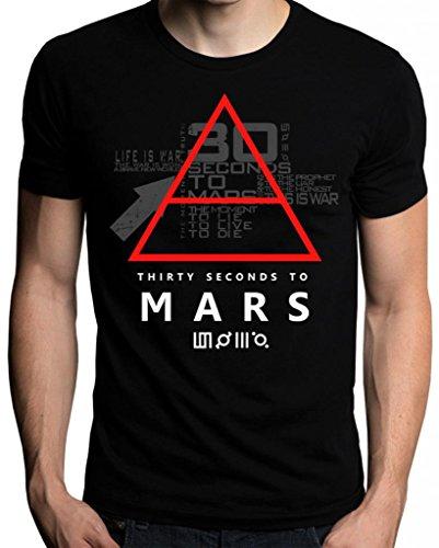 Sixtion 30 Thirty Seconds To Mars Glyphic Symbol Logo Men's T-Shirt, CBlack, L