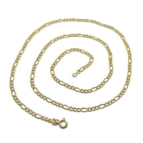 Cadena de Oro Amarillo de 18k para Hombre Modelo 3x1 de 60cm de Larga y 3mm de Ancha