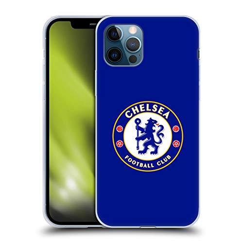 Head Case Designs Offizielle Chelsea Football Club Voll Blau Wappen Soft Gel Handyhülle Hülle Huelle kompatibel mit Apple iPhone 12 / iPhone 12 Pro
