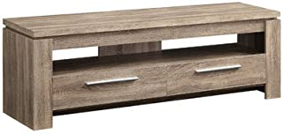 Chaoyichi TV Stand, Distressed Brown