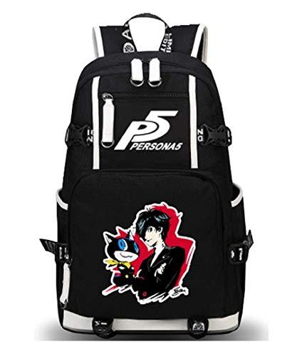 GO2COSY Anime Persona Rucksack Daypack Studententasche Schulranzen Büchertasche Schultertasche, 5 (Schwarz) - GO2COSY1