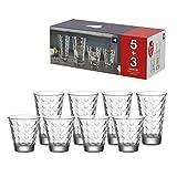 Leonardo - Gläserset - Optic - 4 x Whiskygläser + 4 x Longdrinkgläser - 8tlg - Glas