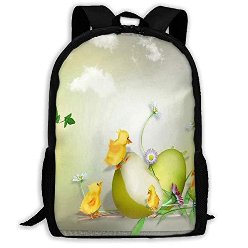 NA Rucksack Ostern Blumen Hen Huhn Natur Blume Reißverschluss Schule Büchertasche Daypack Reise Rucksack Gym Bag für Mann Frauen