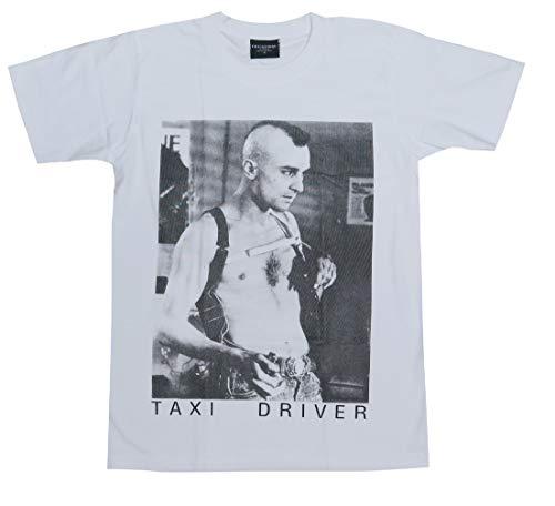 TAXI DRIVER/タクシードライバー/ロバート・デニーロ/Robert De Niro/映画Tシャツ/白/メンズ (L)