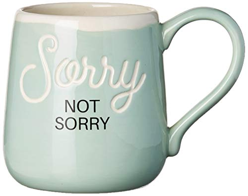 Enesco Our Name is Mud Not Sorry Engraved Coffee Mug, 16 Ounces, Multicolor