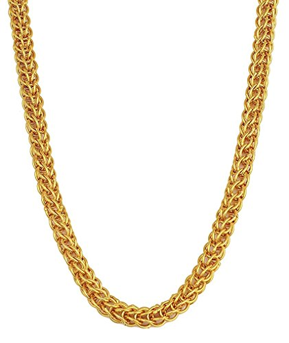 Charms Handmade Gold Plated Chain for Boys & Men