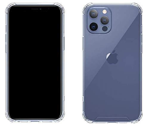 iPhone 12 und Pro Hülle | Durchsichtige Flexible Silikon Hülle für das iPhone 12 und iPhone 12 Pro | Sturzsicher | Transparent