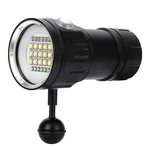 DSJSP Luz de Buceo, luz de Buceo de Aluminio Impermeable Multifuncional, Duradera, Impermeable y Resistente a la corrosión, tamaño: 4.92 x 2.17 x 2.56 Pulgadas