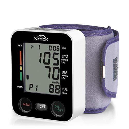 SIMBR Misuratore di Pressione da Polso Digitale per Uso...