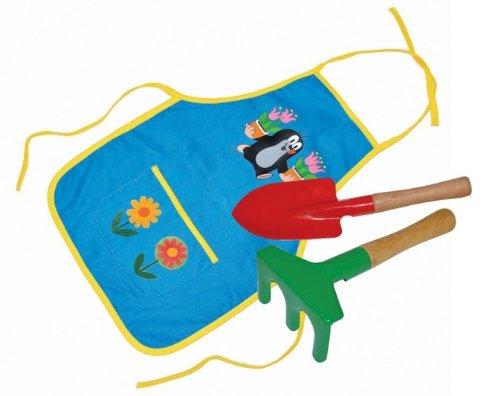 Unbekannt Der kleine Maulwurf Gartenwerkzeug und Schürze im Set für Kinder