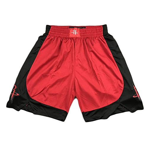 YSPORT Houston Rockets Basketball Shorts Fans Swingman Trikots Shorts Hohe Elastizität Atmungsaktiv Und Tragbar (Color : Red, Size : L)
