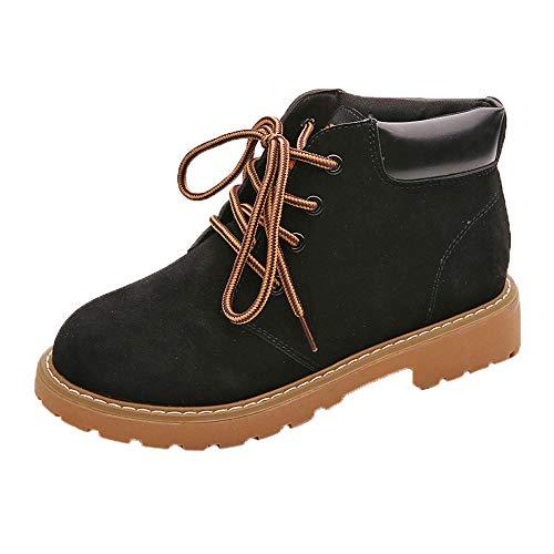 〓 YU'TING 〓 Botas de Moto de Moda Botas de Mujer Botines Botines de tacón Cuadrado Zapatos