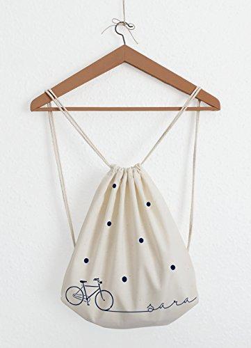 Mochila de cuerdas - Bicicleta - Personalizable con nombre