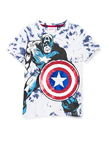 Desigual Boys TS_Captain T-Shirt, Blue, 9/10