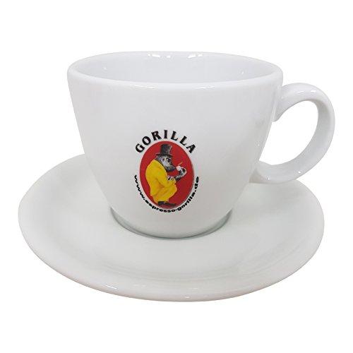 Gorilla Caffe Latte Milchkaffee Tasse mit Unterteller