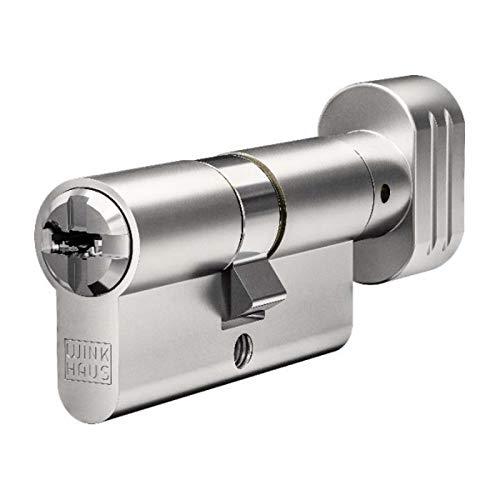 WINKHAUS N-Tra Knaufzylinder 45/45K inkl. 5 Schlüssel - Wendeschlüssel-Sicherheitszylinder - Sicherungskarte - Patentschutz bis 2029 (K=Knaufseite) (Einzelschließung)