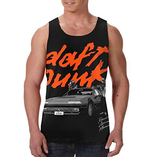 maichengxuan Daft Punk Random Access Memories Fashion Tank Top Mens Summer Sleeveless T-Shirt Gym Fitness Vest